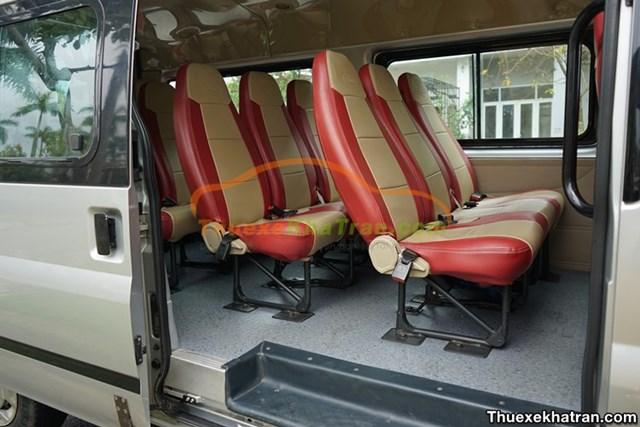 Ghế ngồi tại Nhà xe Kha Trần thoải mái và êm ái