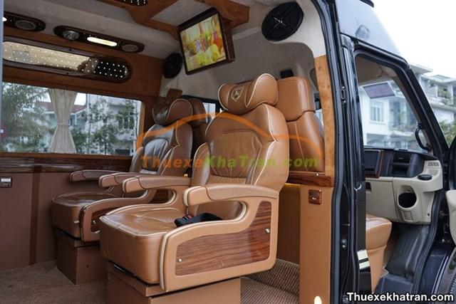Dòng xe Limousine có đầy đủ nội thất tiện nghi
